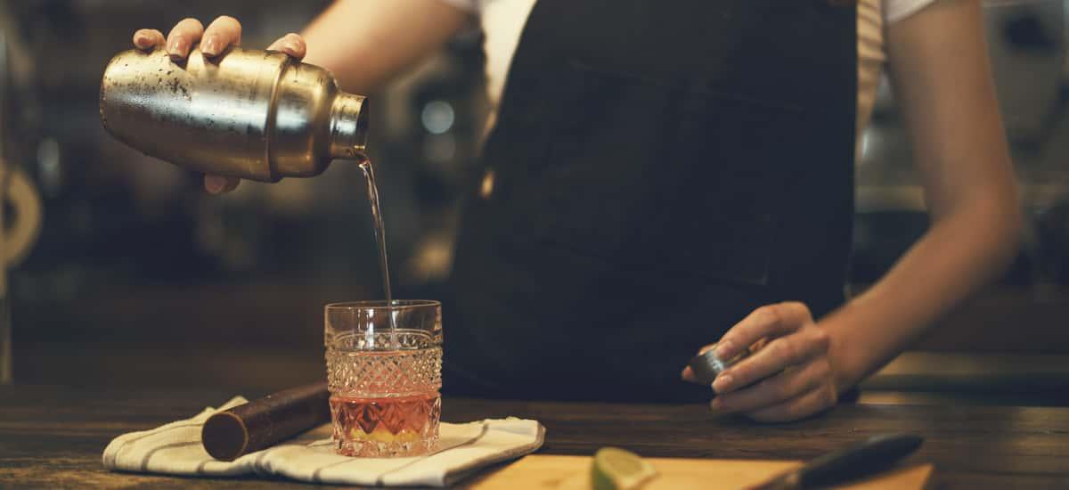 Cocktailshaker zum Mixen